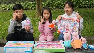 Bé Anna bán hàng đồ chơi Peppa Pig ❤ MN Toys ❤ Đồ chơi trẻ em