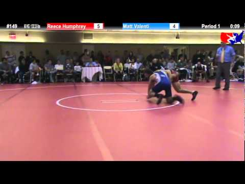 NYAC FS 60 KG / 132.25 lbs: Reece Humphrey vs. Matt Valenti