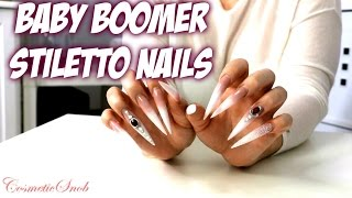 My Awesome Extra Long Baby Boomer Stiletto Nails | CosmeticSnob
