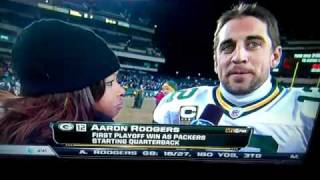 DeSean Jackson Interrupts Aaron Rodgers Interview