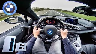 POV BMW i8 TOP SPEED Acceleration Sound on AUTOBAHN