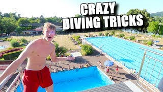 INSANE DIVING BOARD TRICKS FROM 10 METERS!