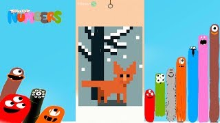 The best Puzzles of Landscape - Dragonbox: Numbers (iPad, iPhone, Android). Fun game for kids.