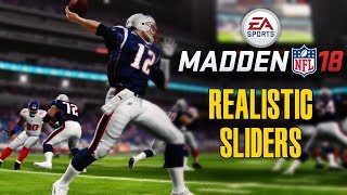 Madden NFL 18 Realistic Sliders - Get the Most out of Your Madden Experience