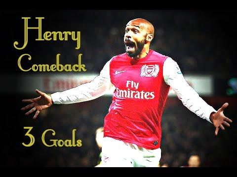 Henry The Come Back | 3 Goals For Arsenal ! | 2012 | Hd video