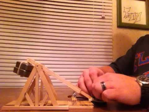 How To Build A Small Trebuchet Out Of Popsicle Sticks