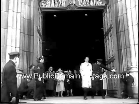 Easter Sunday around the world 1961 newsreel archival stock footage PublicDomainFootage.com