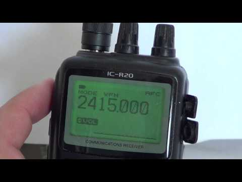 Icom IC R20 Basic Operations - Squelch level settings