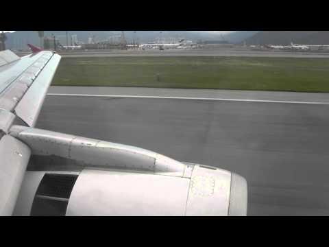 DragonAir KA Airbus A320 landing @ Hong Kong Chek Lap Kok airport