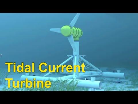 Ocean Energy Tidal Current Turbine Youtube