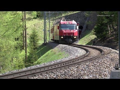 Rhätische Bahn/Albulabahn zwischen Bergün und Preda