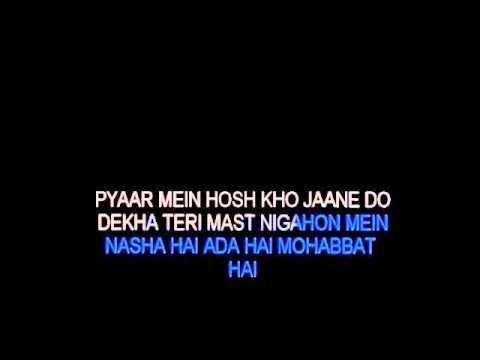 Dekha Teri Mast Nigahon Mein Karaoke (Kumar Sanu)