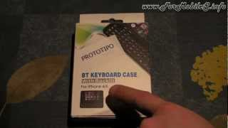 Unboxing di Anycast Solutions BT backlit qwerty iPhone 4-4S (retroilluminata) - esclusiva mondiale !