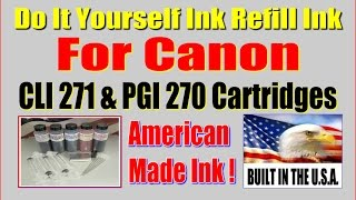 Ink Refill Kit For Canon 270, 271 Cartridges Do It Yourself