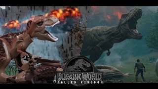 JURASSIC WORLD: Fallen Kingdom in LEGO - Final trailer - Side by side version