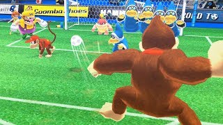 Mario Sports Superstars  Gameplay  Team Diddy Kong Vs Team Donkey Kong