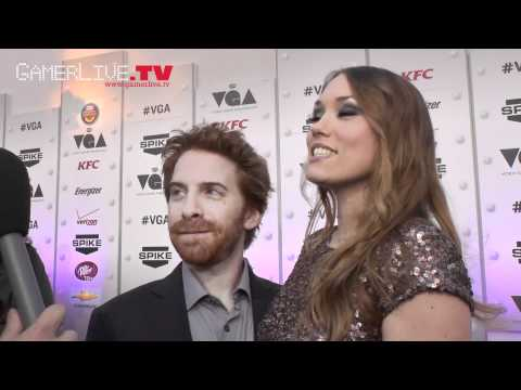 VGAs: Robot Chicken's Seth Green and Wife Clare Grant Talk Video Games on Red Carpet