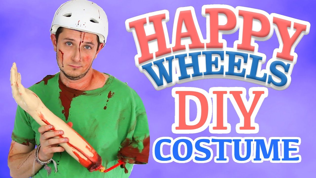 DIY Happy Wheels Costume - YouTube