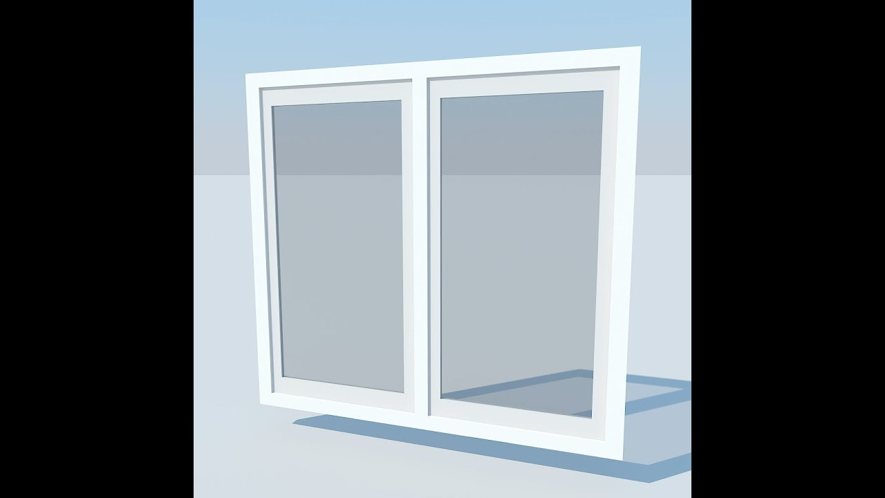 Modeling 3d window 3d studio max youtube for Window 3d model