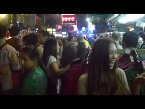 New Year Eve 2014 Khaosan road,  Bangkok