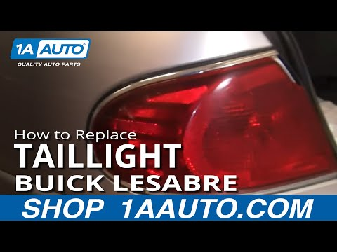 How To Install Replace Bulb Fix Broken taillight Buick Lesabre 00-05 1AAuto.com