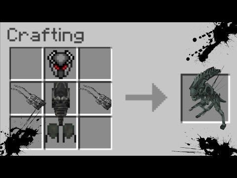 Minecraft LAB EXPERIMENT MOD / CREATING ALIEN VS PREDATOR!! Minecraft