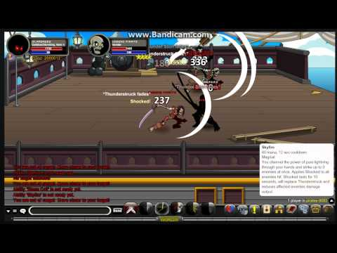 aqw how to use Darkblood Stormking class and Huge crit!