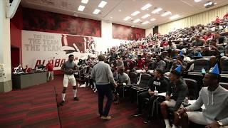 Alabama celebrates head coach Nick Saban's birthday | ESPN