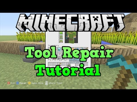 Minecraft Xbox 360 + PS3: Repairing Without Anvil Tool Repair Tutorial