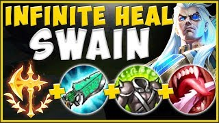 OUTHEAL ALL DAMAGE TAKEN WITH INFINITE HEAL SWAIN BUILD! SWAIN S10 TOP GAMEPLAY! - League of Legends