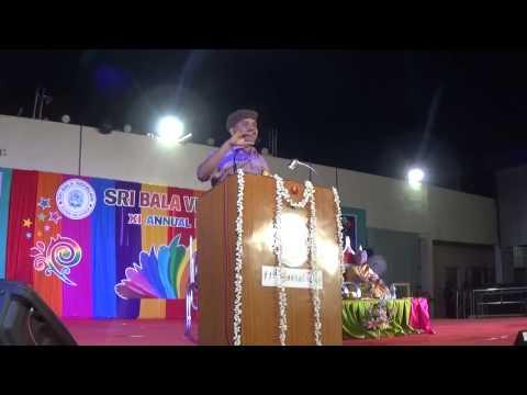 Sri Bala Vidyalaya 11th Annual Day  Chief Guest Viveka Speech