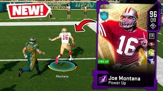 JOE MONTANA MAKES EVERY PASS! CRAZY THROWS! MADDEN 20 ULTIMATE TEAM