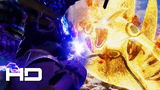 JUMP FORCE - Perfect Susanoo Sasuke VS Six Paths Naruto Gameplay | JUMP FORCE E3 2018 Gameplay