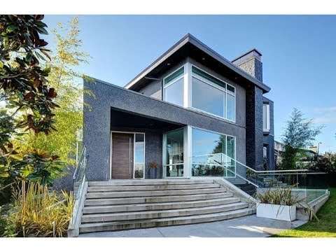 Extraordinary contemporary home in vancouver british for Modern home plans canada