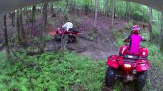 Yamaha 350 2x4, Rancher 420, & Honda Recon 250 trail riding