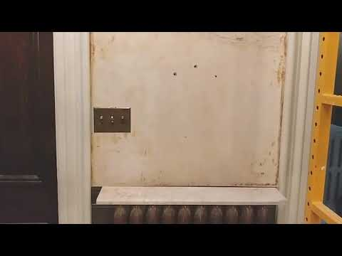 How to remove wallpaper and repair plaster cracks on plaster walls.