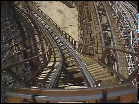 El Toro Wooden Roller Coaster Front Seat POV - Six Flags Great Adventure