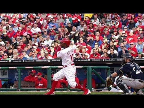 MIL@PHI: Rollins knocks home Revere with double
