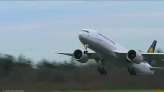 Pilotseye.tv - Lufthansa Cargo Boeing 777 - Departure from Seattle