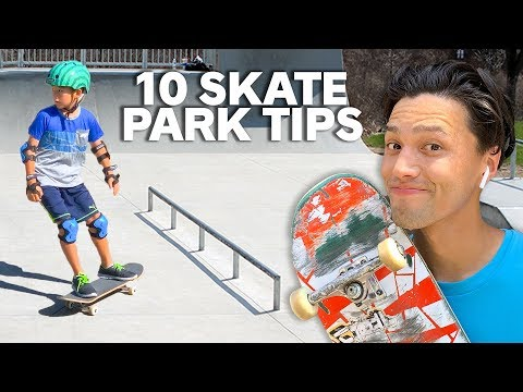 10 Skatepark TIPS for BEGINNERS!