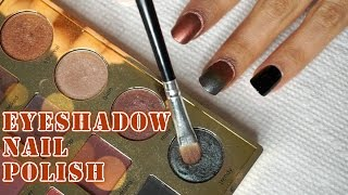 MUST TRY!!! : DIY Eye shadow Nail Polish