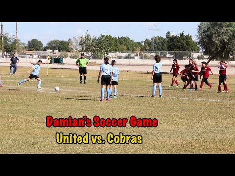 Damian's Soccer Game with United vs. Cobras (January 20, 2018)