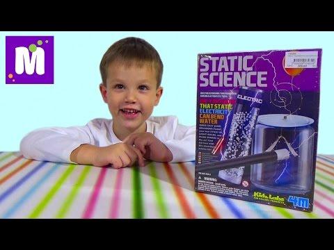 Статическая Наука проводим электрические опыты дома распаковка набора