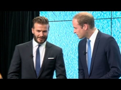 Prince William, David Beckham join forces