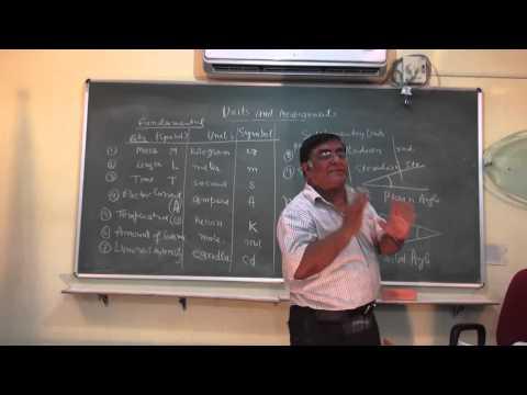 XI-2.01. Units and Measurement part-1, Pradeep Kshetrapal (2014)