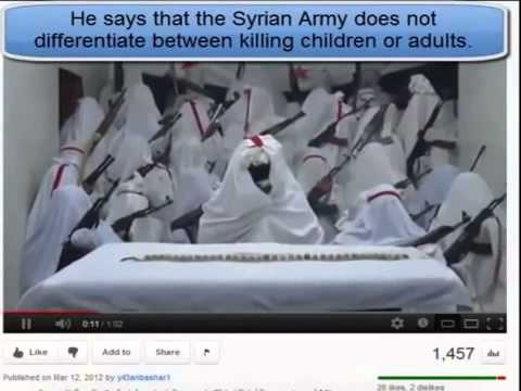 Syrian News-Free Syrian Army FSA) recruit Child Soldiers while they Hide under Sheets  Wheres the UN