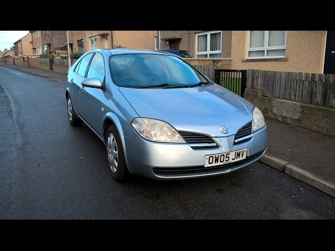 2005 Nissan Primera S 1.8 (P12)  - Cold Start at 1*C