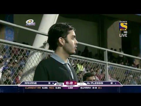 Anant Ambani at Mumbai Indians match in Wankhede Stadium