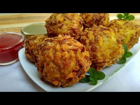 Potato Crispy Balls Recipe in Hindi by Indian Food Made Easy