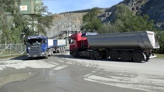 Scania trucks ride from quarry